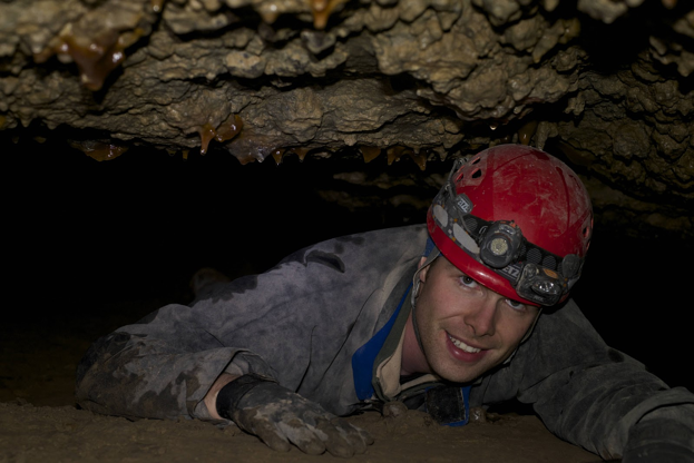 Interface co-Founder Tom de Haas in Red October Cave